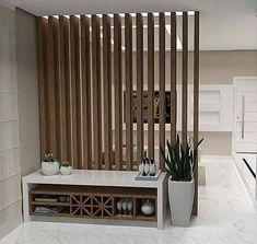 Living Room Partition Design, Room Partition Designs, Living Room Tv Unit Designs, Wood Partition, Home Room Design, Home Interior Design, House Design, Interior Ideas, Home Entrance Decor