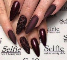 73 Most Stunning Dark Nails Inspirational Ideas ( Acrylic Nails, Matte Nails) ♥ - Diaror Diary - Page 13 ♥ 𝕴𝖋 𝖀 𝕷𝖎𝖐𝖊, 𝕱𝖔𝖑𝖑𝖔𝖜 𝖀𝖘!♥ ♥ ♥ ♥ ♥ ♥ ♥ ♥ ♥ ♥ ♥ ♥ ღ♥ Everythings about Stunning nails design you may love! ღ♥ s҉e҉x҉y҉ Gorgeous Nails, Love Nails, Pretty Nails, Fun Nails, Cracked Nails, Dark Nail Designs, Burgundy Nails, Maroon Nails, Dark Nails