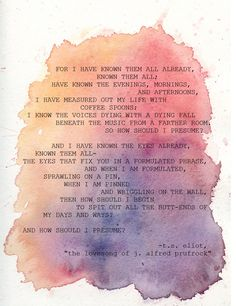 The Lovesong of J. Alfred Prufrock - T.S. Eliot. Technically not a full book, but a fascinating poem well worth reading.