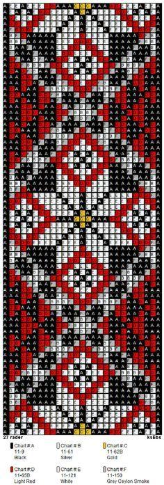 Embroidery Bracelets Design Belte til bringeklut 127 Bead Loom Patterns, Peyote Patterns, Beading Patterns, Embroidery Patterns, Bracelet Patterns, Seed Bead Bracelets, Loom Bracelets, Seed Bead Jewelry, Hand Embroidery