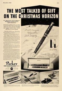 1936 Ad Parker Laminated Pearl Vacumatic Fountain Pen Original ESQ1 | eBay