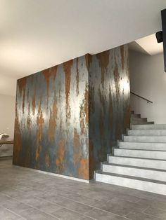 ideas for art deco interior design lobby Faux Painting Walls, Faux Walls, Wall Painting Decor, Textured Walls, Metal Walls, Metal Wall Panel, Decoration Bedroom, Decoration Table, Casa Magnolia