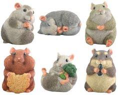 Hamsters Set of 6 Animal Figurines