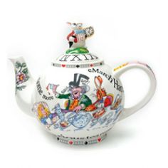 Our finest teapot from the most famous tea party of all time! Now available at the Queen Mary Tea Emporium on NE55th Street in Seattle.