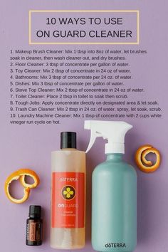 ditch the toxic chemicals you're cleaning your house with!! doTERRA's On Guard Cleaner Concentrate not only has cleaning superpowers, but it also makes 12 all-purpose cleaners! Grab my free eBook as well! #doterra #essentialoils #blog #wellness #toxicfree #greencleaning #holistic #holisticlife #recipe #diy