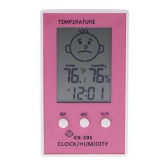 Digital Thermometer Hygrometer Clock Temperature Humidity Measurement higrometre termometro digitale thermometre station meteo