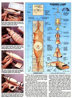 #350 Maple Lamp - Woodturning Projects - Woodturning