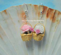Easter flower earrings Easter basket earrings by Rocks2Gems2Wire, $7.00