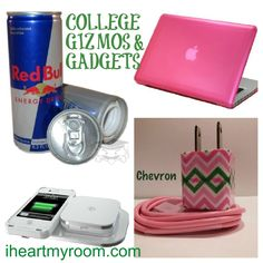 """Must have gizmos and gadgets for college! Lawling at """"gizmos and gadgets"""""""