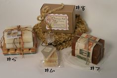 Great ideas on how to gift wrap soap! Could prove handy for selling.