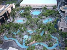 """MGM Hotel, Las Vegas - MGM has the BEST """"river"""" pool in the city!!  Endless fun floating around with 500 of your closest friends!!"""