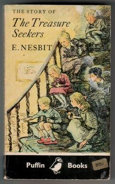 The Story of the Treasure Seekers Being the Adv. - E Nesbit - Acceptable - . Cool Books, I Love Books, My Books, Vintage Book Covers, Vintage Children's Books, Vintage 70s, Book Cover Art, Book Art, E Nesbit