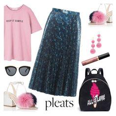 """Pretty Pleats"" by pure-vnom ❤ liked on Polyvore featuring STELLA McCARTNEY, MANGO, Kenneth Jay Lane, Loeffler Randall, Prada, Le Specs, tarte and pleats"