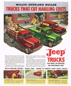 Willys 1949 truck | 1949 Willys-Overland Jeep Trucks Ad Photo Picture