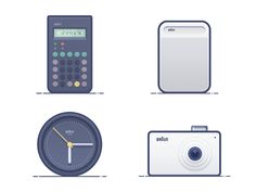 Classic product icon design about BRAUN