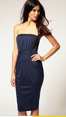Navy blue bridesmaid dresses.