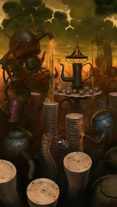 ☆ Hatter's Domain, as a wicked tea machine -::- Artist Luis Melo ☆