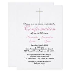 Confirmation Pink Twins Invitations Custom Office Party Invitations #office #partyplanning