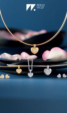 BERND WOLF - Herzen sind das Symbol der Liebe! Ob Silber goldplattiert oder ganz in 925er Silber diese Herzen Strahlen und Funkeln immer um die Wette! #Herzen #Liebe #Wedding #Hochzeit #LieblingsSchmuck
