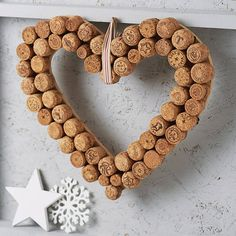 heart cork wreath by the contemporary home | notonthehighstreet.com - for the kitchen? Looks easy to make my own!
