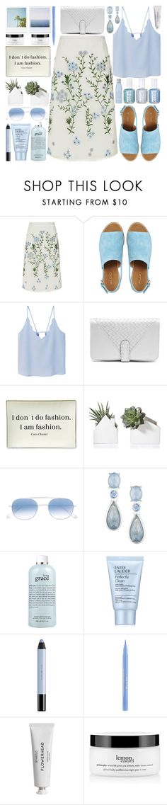"""The Perfect Summer Floral Skirt"" by barbarela11 ❤ liked on Polyvore featuring Goat, ALDO, MANGO, Chanel, Twigs and Moss, xO Design, Garrett Leight, Anne Klein, philosophy and Estée Lauder"