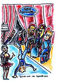 """Der König sucht """"Den Superritter"""". Dieter Bohlen sitzt natürlich in der Jury. ........ Zeichnungen aus dem zweiten Kinderbuch von Michael Klüter """"Der Kleine Ritter und das Abenteuer geht weiter"""", welches demnächst bei Amazon erscheinen wird."""