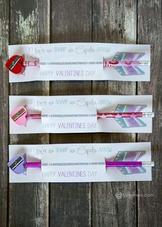 Pencil Sharpener and Pencil Valentines. An easy dollar store find and free printable. You're as sharp as Cupid's arrow. Pencil Sharpener and Pencil Valentines. An easy dollar store find and free printable. You're as sharp as Cupid's arrow. Cheesy Valentines Day Cards, Valentines Puns, Kinder Valentines, Valentine Gifts For Kids, Valentine Box, Valentines Day Party, Valentine Day Crafts, Valentine Ideas, Printable Valentine