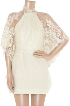 Lover Mademoiselle lace and satin-crepe dress for engagement party/rehearsal dinner/etc.