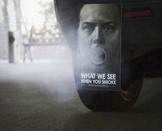 contaminación de los vehículos publicidad creativa