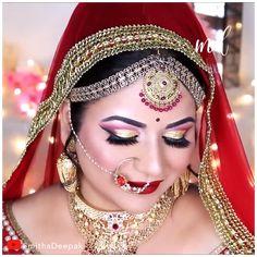 Bride Eye Makeup, Indian Eye Makeup, Indian Makeup Looks, Wedding Eye Makeup, Indian Wedding Makeup, Arabic Makeup, Bridal Hairstyle Indian Wedding, Indian Eyes, Bridal Makeup Videos