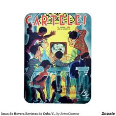 Iman de Nevera Revistas de Cuba Vintage