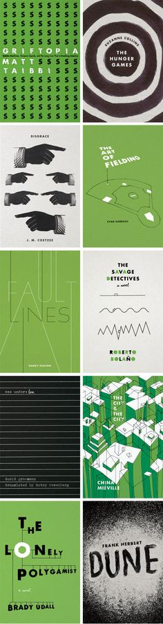 From Cover to Cover, aproject by Jenny Volvovski (one third of the design team atALSO) where she redesigns the covers of the books as she finishes reading them.