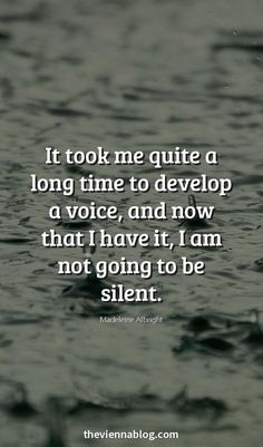 I've never been listened to so when I go silent expect it to increase.