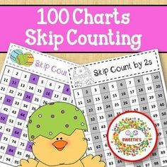 Skip Counting Charts 100s Easter by Sweetie's | Teachers Pay Teachers 100 Chart, Charts, School Reviews, Homeschool Math, Homeschooling, Learn To Count, Skip Counting, Counting Activities, Classroom Posters