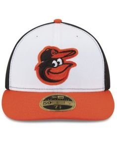 New Era Baltimore Orioles Authentic Collection Low Profile 9-11 Patch 59FIFTY Fitted Cap - White 7 3/8