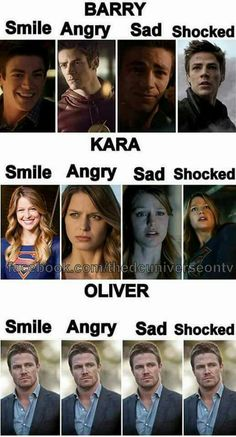 Awe come on. Oliver smiles once a season