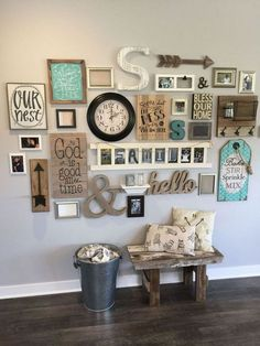 Facts Fiction And Wall Collage Ideas Living Ro&; Facts Fiction And Wall Collage Ideas Living Ro&; Sana Yar Facts Fiction And Wall Collage Ideas Living […] collage living room Farmhouse Wall Decor, Rustic Wall Decor, Rustic Walls, Room Wall Decor, Rustic Gallery Wall, Gallery Walls, Modern Farmhouse, Bedroom Wall, Stairway Gallery