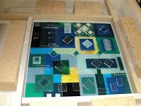 Random thoughts about random topics. Fused Glass Art, Stained Glass, Fuse Panel, Square Plates, Plates And Bowls, Random Thoughts, Looks Cool, Jewelry Ideas, Squares