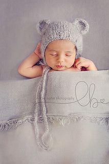 Baby Teddy Bear Bonnet