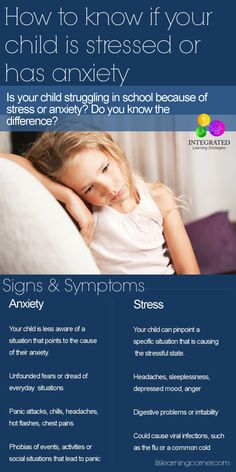 How to tell if your child has Stress or Anxiety | ilslearningcorner... #anxiety #stress