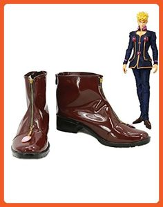 JOJO'S BIZARRE ADVENTURE Giorno Giovanna Cosplay Shoes Brown Boots Custom Made - Athletic shoes for women (*Amazon Partner-Link)