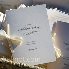 Ideas For Wedding Invitations Diy Elegant Ceremony Programs Wedding Booklet, Simple Wedding Invitations, Diy Invitations, Wedding Paper, Wedding Cards, Diy Wedding, Trendy Wedding, Wedding Ideas, Ribbon Wedding