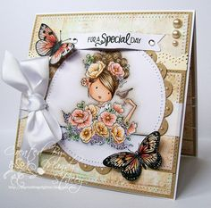 Gorgeous card created by Mandy for the Simon Says Stamp Wednesday challenge (Anything Goes)