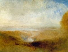 Joseph Mallord William Turner - Landscape with a River and a Bay in the Distance, c.1850