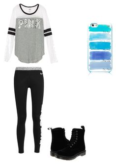 """Cute comfy outfit"" by fungiral on Polyvore featuring NIKE, Dr. Martens and Kate Spade"