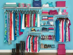 Stacey shares 17 closet organization hacks to start your spring cleaning early. She already cleaned out her closet over Christmas, so she& sharing tips. Closet Storage Systems, Best Closet Organization, Organization Hacks, Closet System, Clothing Organization, Wardrobe Organisation, Clothing Racks, Diy Clothing, Girls Clothing Brands
