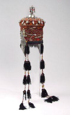Woman's Cap (Tjubetejka) With Headband Ornament (Sinsile) And Domed Finial (Gupb) | ca. 1890s
