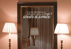 Wandtattoo - Wear a smile