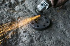 Grinding On Iron - Photo - Free Images Iron Ring, Grinding, Free Images, Tools, Personalized Items, Appliance