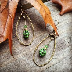 Skull Earrings by Fabtabulous